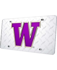 Stockdale Washington Huskies Diamond Cut License Plate Team Color