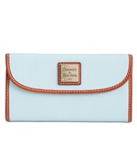 Dooney And Bourke Pebble Continental Clutch Pale Blue