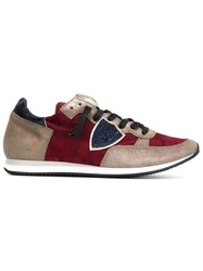 Philippe Model Camouflage Panelled Sneakers Red