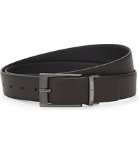 Armani Jeans Reversible Saffiano Leather Belt Brown