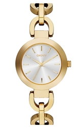 Dkny 'Stanhope' Chain Link Bracelet Watch 28Mm Gold