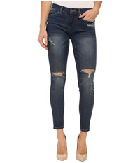 Blank Nyc Denim Crop Ripped Knee Skinny Jeans In Blue Blue Women's Jeans