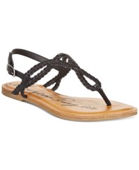 American Rag Keira Braided Flat Sandals Only At Macy's Women's Shoes Black