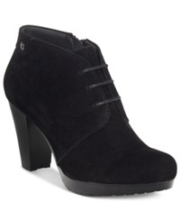 Giani Bernini Odele Lace Up Booties Only At Macy's Women's Shoes Black