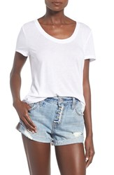 Women's Bp. Scoop Neck Boyfriend Tee White