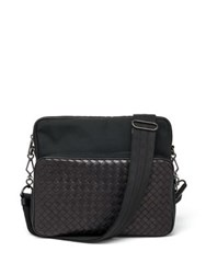 Bottega Veneta Woven Pocket Camera Bag Black