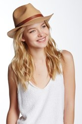 Phenix Short Brim Wool Fedora Beige