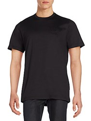 Brioni Cotton Crewneck Tee Black Grey