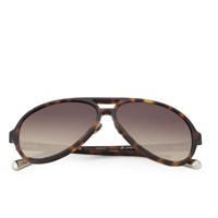 Kris Van Assche Rubberised Sunglasses Tortoise Shell