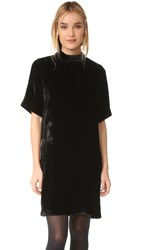 Just Female Ware Velvet Dress Black