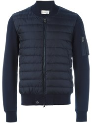 Moncler Padded Front Cardigan Blue