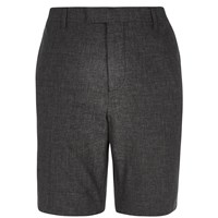 River Island Mens Black Linen Tailored Shorts