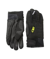 Outdoor Research Alibi Li Gloves Black Lemongrass Extreme Cold Weather Gloves