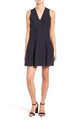 Cupcakes And Cashmere Women's Hector Herringbone Fit Flare Dress