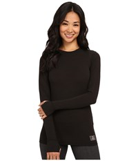 Burton Midweight Wool Crew Black Heather Women's Clothing