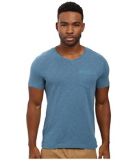 Original Penguin Johnson V Neck Tee Aegean Blue Men's T Shirt