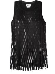 Dkny Laser Cut Tank Top Black
