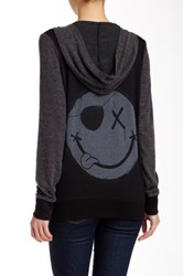 Lauren Moshi Shay Happy X Face Zip Up Hoodie Multi