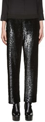 Ashish Ssense Exclusive Black Sequin Lounge Pants