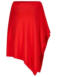 Winser London Cashmere Blend Poncho Hollywood Red