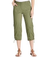 Styleandco. Style And Co. Cargo Capri Pants Olive Sprig