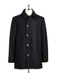 Lauren Ralph Lauren Wool Rich Overcoat Charcoal