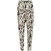 Karl Lagerfeld Women's Swirl Printed Carrot Pants Paint Swirl Multi