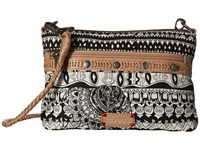 Sakroots Artist Circle Campus Mini Black White One World Cross Body Handbags Beige