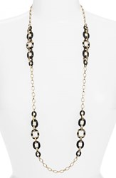 Women's Kate Spade New York 'Mod Moment' Station Necklace Black