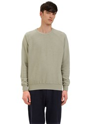 Les Basics Reverse Side Loopback Fleeced Crew Neck Sweater Grey