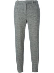 Brunello Cucinelli Cropped Tailored Trousers Black