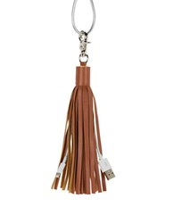 Lmnt Faux Leather Tassel Charger Cable Camel
