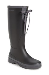 Tretorn Women's 'Lacey' Rubber Boot Black Grey