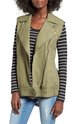 Women's Bp. Cotton Moto Vest Olive Burnt