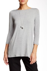 Bcbgeneration Marled Knit Tee Gray