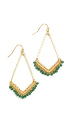 Nakamol Bari Earrings Emerald Gold