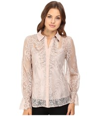 Trina Turk Exuberant Top Taupe Women's Clothing
