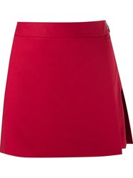 Giuliana Romanno Waistband Panelled Skort Red