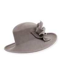 Philip Treacy Wool Felt Hat W Abstract Bow