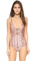 Zimmermann Realm Harness One Piece Pink Paisley