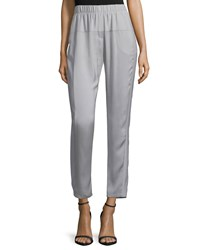 Halston Tapered Leg Cropped Pants Mist Blue