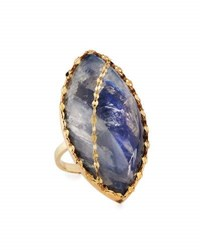 Lana Mesmerize Mood Ring In 14K Gold Blue