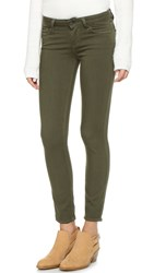 Paige Verdugo Ankle Skinny Jeans Deep Olive