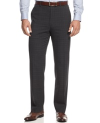 Michael Michael Kors Charcoal Windowpane Dress Pants