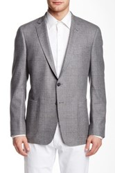 Todd Snyder Grey Plaid Two Button Notch Collar Jacket Gray