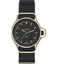 Givenchy Gy100181s09 Seventeen Limited Edition Yellow Gold Plated And Leather Watch