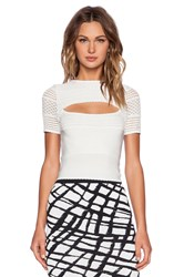 Torn By Ronny Kobo Aria Top White