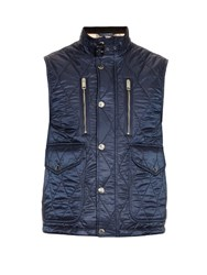 Burberry Diamond Quilted Gilet Navy