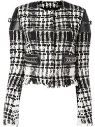 Alexander Wang Cropped Boucle Jacket Black