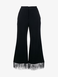 Jonathan Simkhai Fringed Flared Trousers Black